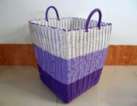 Wholesale new plastic knit Laundry basket dirty clothes basket dirty garment basket storage basket