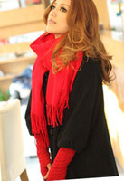 Wholesale Fashion Long Soft Wrap Scarf Pure Color Warm Woolen Scarf Korean Style Shawl