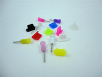 Wholesale Silicone Dock Cover Headset Dust Cap for iPhone colorful pair set
