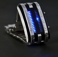 Wholesale Long lasting Shockproof Army Style LED Watch with Blue LED lights