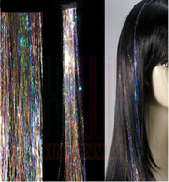 Wholesale 14 inch Glitz Feather Tinsel clip in on Hair Extensions D Shiny