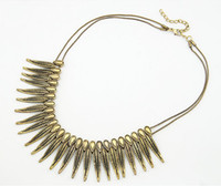 Christmas Necklace Lady Short Feather Western Style Party Hi...