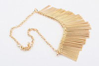 Christmas Necklace Lady Alloy Punk Party Style Gold Silver H...