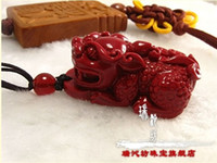 Wholesale Bracelet necklace pendant jewelry natural red coral hand carved mascot The mythical wild animal