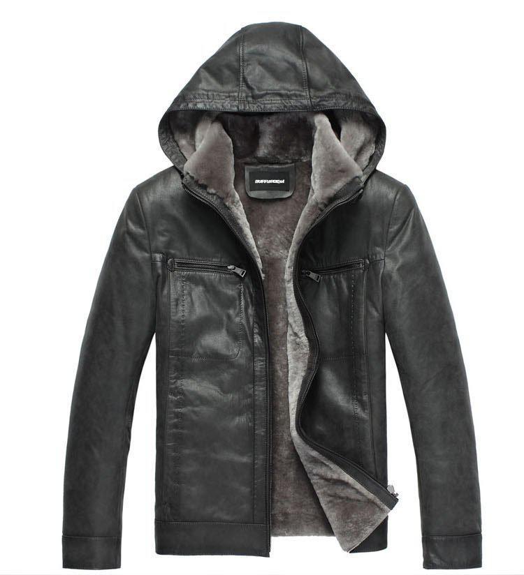 Wholesale - TUM1318 100%cow leather .winter jacket men,leather jacket