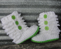 Wholesale 2012 new ugg boots crochet baby white booties Furrylicious Booties M winter snow boots l