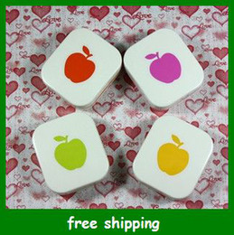 Wholesale Popular Apple Contact Lenses Box Storage Set Cartoon Eyewear Cases Bags Glasses gifts