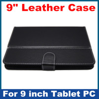 Wholesale 2012 hot salling inch Leather Case black color suit for inch A13 Allwinner T900 Tablet PC UMPC