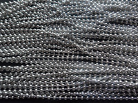 Wholesale 50 meters Stainless steel mm silver beads chain jewelry finding DIY pendant necklace