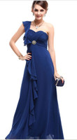 Actual Images Fashion Week One-Shoulder 2013Red Carpet Pageant Bridal Bridesmaid Wedding Gown Prom Ball Evening Dress