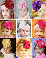 Wholesale Fashion head band Large flower hair bands Children s hair ornaments Headwear Flowers and ribbons