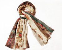 Wholesale Fashion qiu dong new style Printed cotton scarf COTTON VOILE material