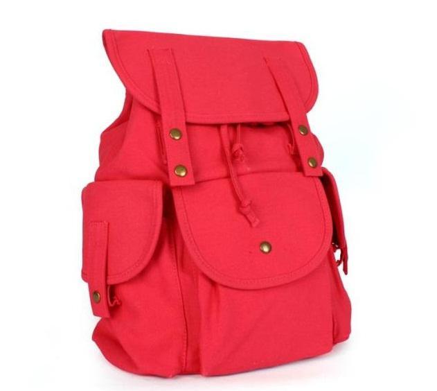 Retro Women Canvas Backpacks , Classic Girls Rucksack Restoring ...