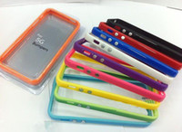 Wholesale Silicone TPU Frame Bumper case Metal Button Cover