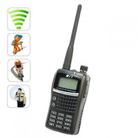 Wholesale Up to km Handheld Walkie Talkie Keypad LCD Display UHF amp VHF FM Radio civil