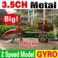 Cheap 105CM Huge Big Larger 3.5CH Radio Electric Remote Control RC Helicopter Metal Frame Gyro with LED light Gyroscope G.T Model QS8005 QS 8005