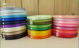 Wholesale 2012 mix color Assorted Color Satin Ribbon cm m per reels wedding favor