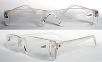 +1.00 strength glasses reading - Unisex plastic Transparent clear reading glasses power