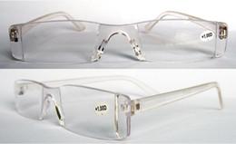 Wholesale Unisex plastic Transparent clear reading glasses power