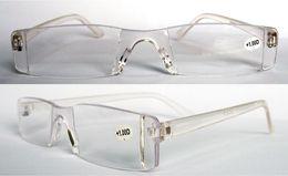 (20pcs lot) Fashion unisex Plastic reading glasses Transparent clear reading glasses +1.00 to +4.00