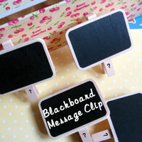 Wholesale Mini Message Note Blackboard Notice Photo Board With Clip Home Office Decoration