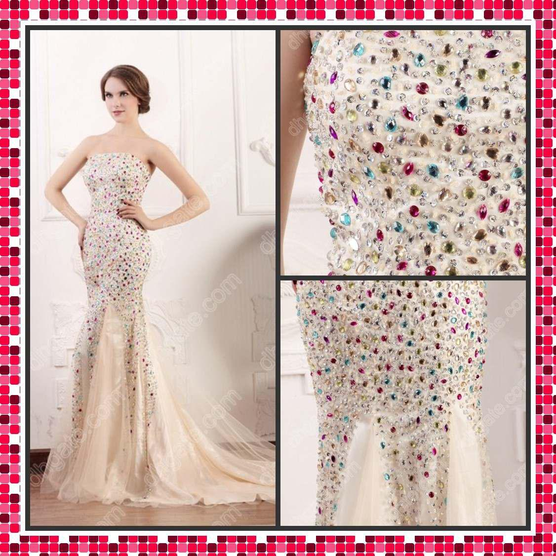 Crystal Prom Dress Mermaid