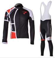 Wholesale NEW black PINARELLO team long Sleeve bike bicycle cycle cycling wear Jersey BIB pants set suit