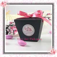 Wholesale BLACK Wedding Chinese Take Out Favor Boxes Party Gift Box Candy Box JCN
