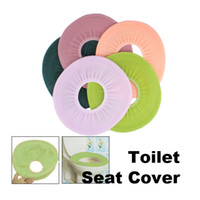 Cheap 100 pcs lot Bathroom Toilet Washable Cloth Seat Cover Pad