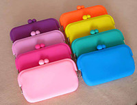 Wholesale High Quality Silicone Hot selling Silicone Key Coin Purses Wallet Rubber Wallets Bag Candy colors Ph
