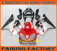 Red black silver fairing kit for 2002 2003 Honda CBR600 F4i ...