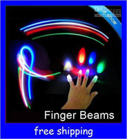 Wholesale LED Bright Finger beams Ring Lights Rave Party Glow LED fingers toys
