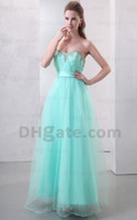 Actual Images 2011 prom - 2011 Prom Dresses Sexy Sweetheart Organza Ruffles Beaded Empire Floor Length Evening Dresses L