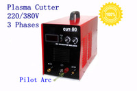 Wholesale 80 Amp DC Pilot Arc Inverter Plasma Cutter V or V Phaes Cut80P with Torch P80
