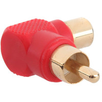 Wholesale 100pcs Right Angle Degree RCA Male to Female Audio Plug Coupler Adapter Converter