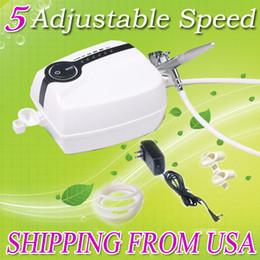 Wholesale Portable Makeup Tattoo Compressor Airhouse Airbrush Plug Foothold Kit USA Warehouse PH A1001