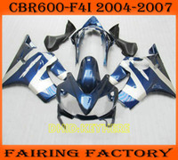 Blue silver ABS fairing for Honda 2004 2005 2006 2007 CBR600...