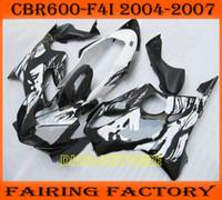 Wholesale In sale Beautiful face custom paint black fairing for Honda CBR600 F4i cbr CBRF4i fairings