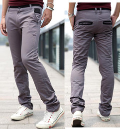 Wholesale D317B25 FASHION new Pocket trim cotton style Men s Casual pants