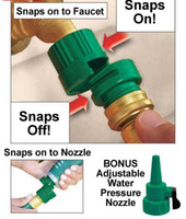 Wholesale 20pcs Snap Easy Slide on off Water Hose connector Garden Hose Adapter with Bonus Nozzle