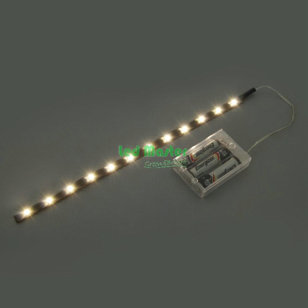 led strip light 30cm 12p 3528 leds with battery box. Black Bedroom Furniture Sets. Home Design Ideas