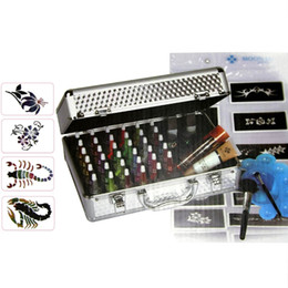 Wholesale Pro Tattoo Body Painting Glitter Deluxe color Powders Stencil Kit USA warehouse PH K006