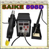 al por mayor solder station hot air-Pistola de aire caliente SAIKE 898D Soldadura de hierro 2 en 1 estación de soldadura A estrenar