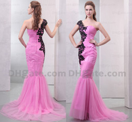 High Quality 2019 Fashion Lace Mermaid Tulle Appliques Prom Evening Dress Designer Occasion Dresses ED041