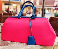 PU Totes Red New hot Korean pink women's personalized handbags fashion designer bags tote purse FREE.SH