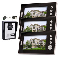 Wholesale 2 GHz Wireless Video Door Phone Audio Visual Intercom Monitors with CMOS Camera