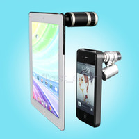 Wholesale for New iPad iPhone Fashion x Zoom Camera Lens Telescope and Fish Eye Lens Microscope Case SGP