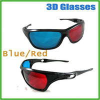 Wholesale 3D Glasses with Plastic Framed D moive glasses D anaglyphic Game glasses