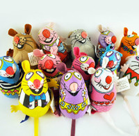 Wholesale FatCat wool cloth mouse Multicolor cat amused mint toys pet cartoon plush toys cm