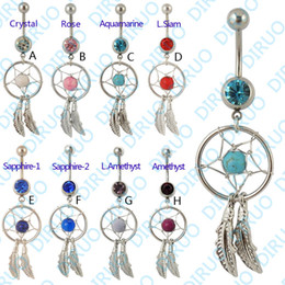 Wholesale Dream Catcher Jewelry Dangling Belly Button Rings Navel Ring Body Piercing Jewelry G